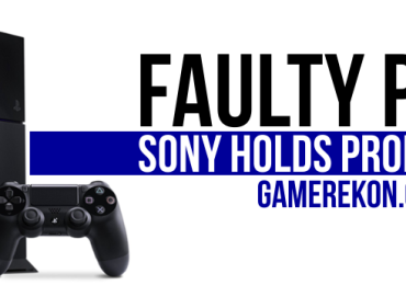 SONY PS4 FAULTY GAMEREKON